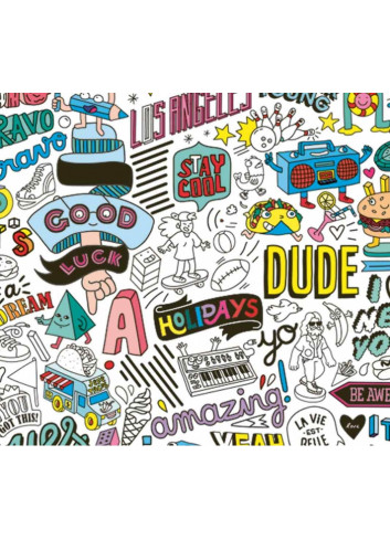 Poster géant & stickers - Street Art Omy