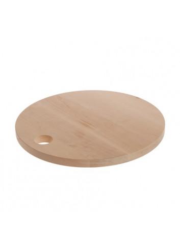 planche à decouper en bois ronde
