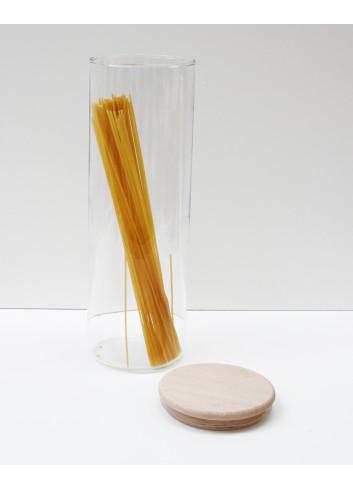 Bocal en verre et bouchon en bois - 1,8 L