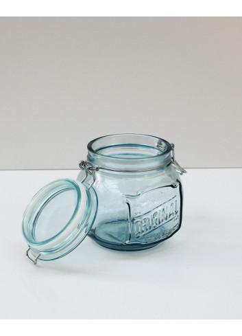 Bocal hermétique en verre recyclé - 0,8 L