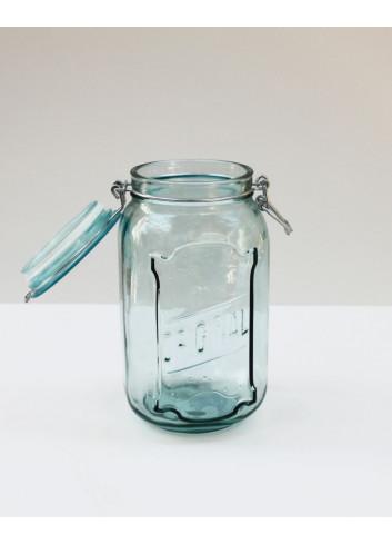 Bocal hermétique en verre recyclé - 1,9L